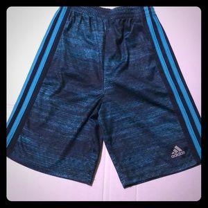 Boys adidas size 7x climalite turquoise shorts
